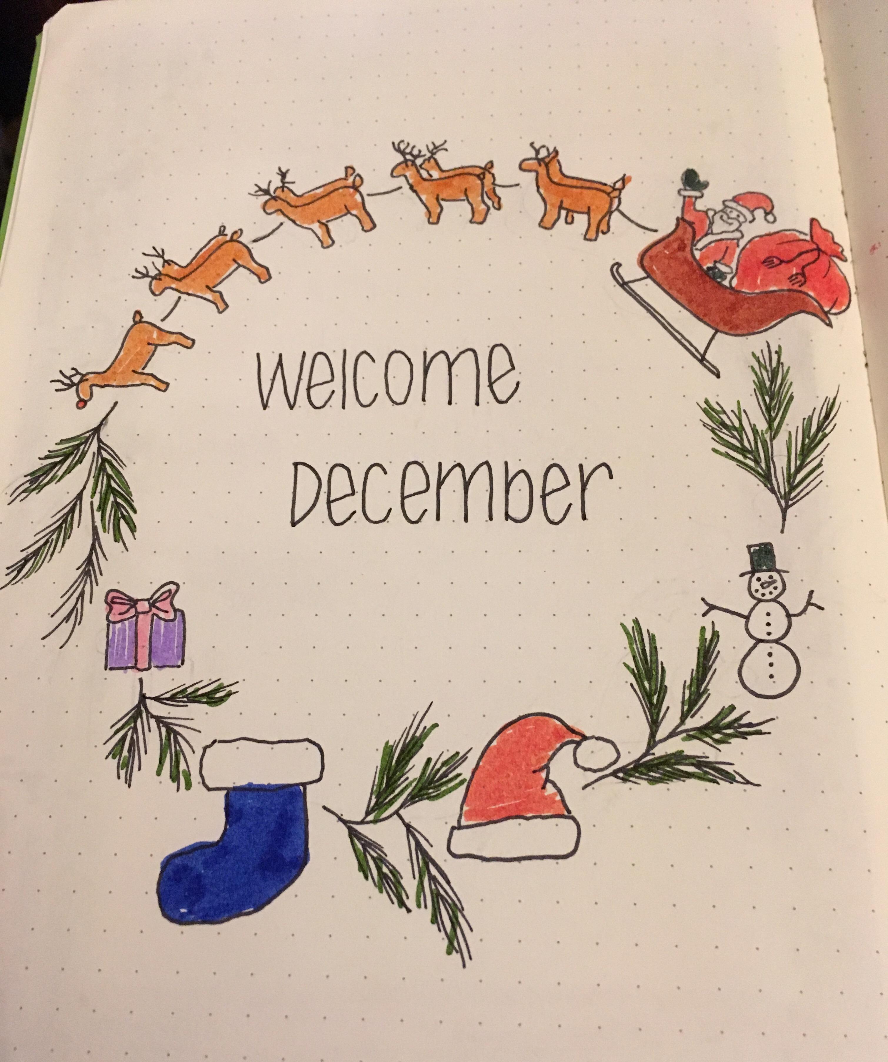 December Bullet Journal Planning Neta Marie Designs